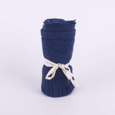 Minky prekrivač - teget