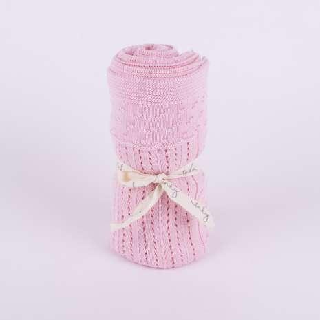 Minky prekrivač - roze