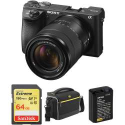 Sony Alpha a6500 Mirrorless Digital Camera with 18-135mm Lens and Accessories Kit