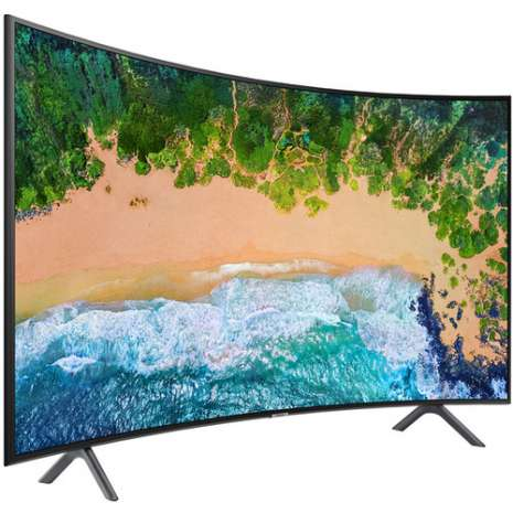 """Samsung NU7300 65"""" Class HDR UHD Multi-System Smart Curved LED TV"""
