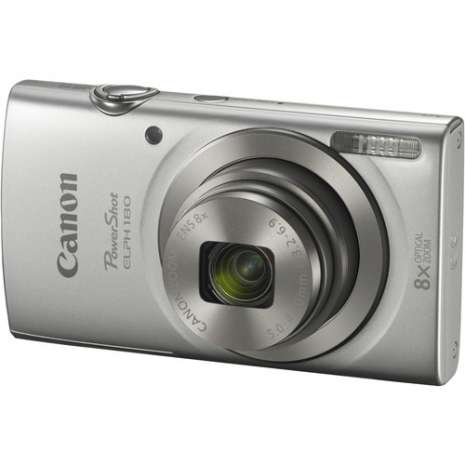 Canon PowerShot ELPH 180 Digital Camera with Free Accessory Kit (Silver)