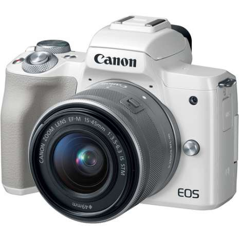 Canon EOS M50 Mirrorless Digital Camera with 15-45mm Lens and Accessory Kit (White)