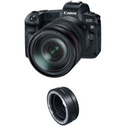Canon EOS R Mirrorless Digital Camera with 24-105mm Lens and Mount Adapter EF-EOS R Kit