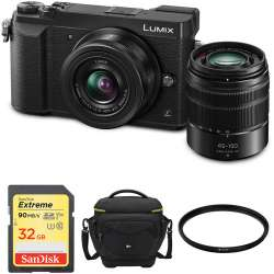 Panasonic Lumix DMC-GX85 Mirrorless Micro Four Thirds Digital Camera with 12-32mm and 45-150mm Lenses and Accessories Kit (Black)